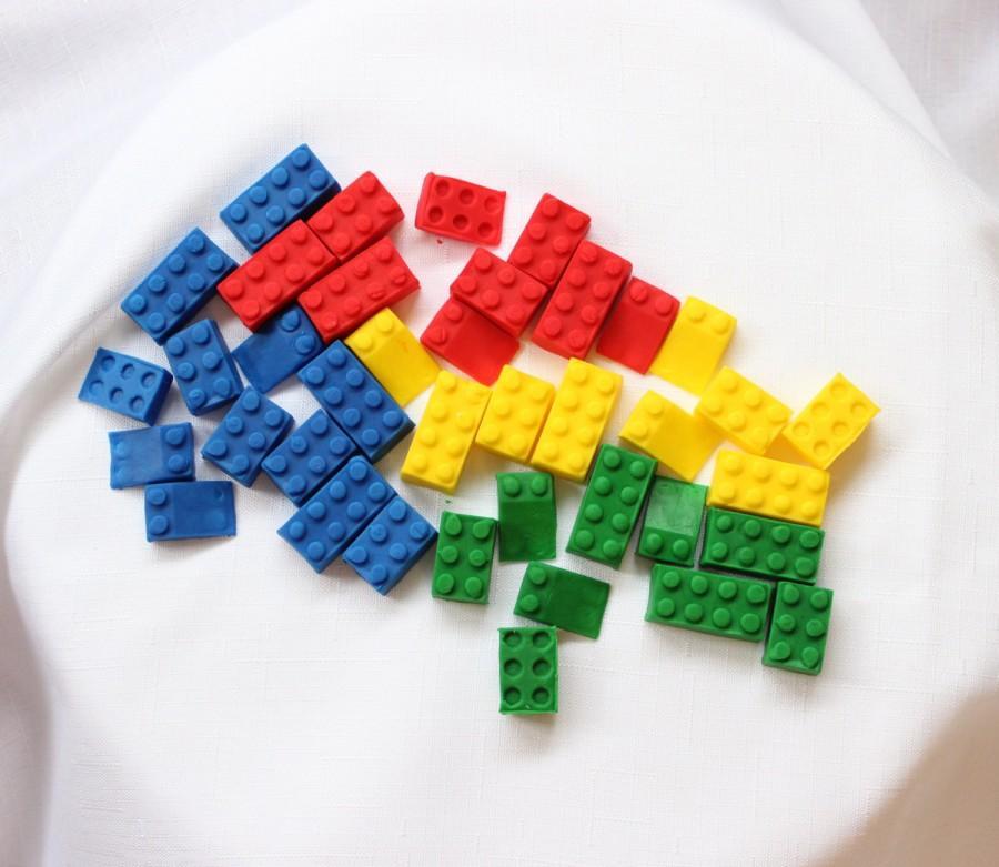 Свадьба - 36 lego cupcake toppers assorted edible fondant cake topper boy birthday building theme