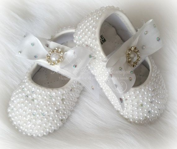 Crystal Baby Ballet Shoes Crystal Shoes Pearl Baby Shoes