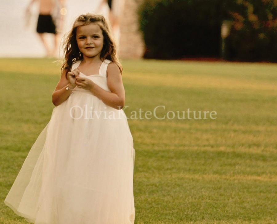 Wedding - Flower Girl Dress Cotton Floor Length