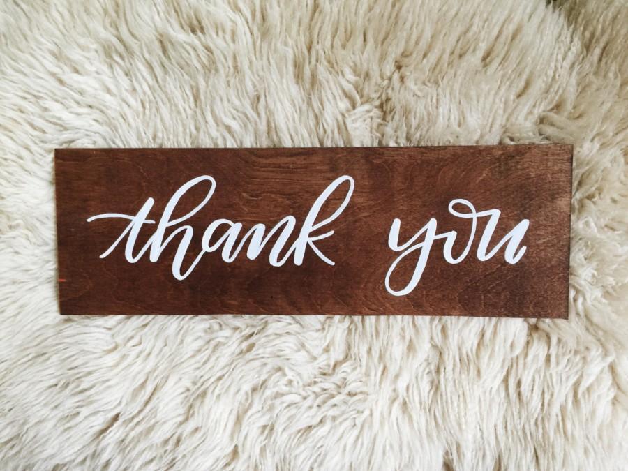 Wood Wedding Sign Plywood Thank You