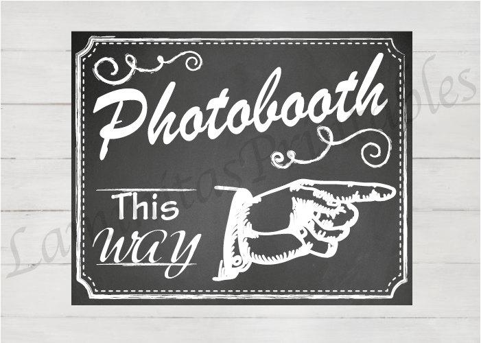 Photobooth Sign Photo Booth Backdrop Insert This Way Wedding Chalkboard