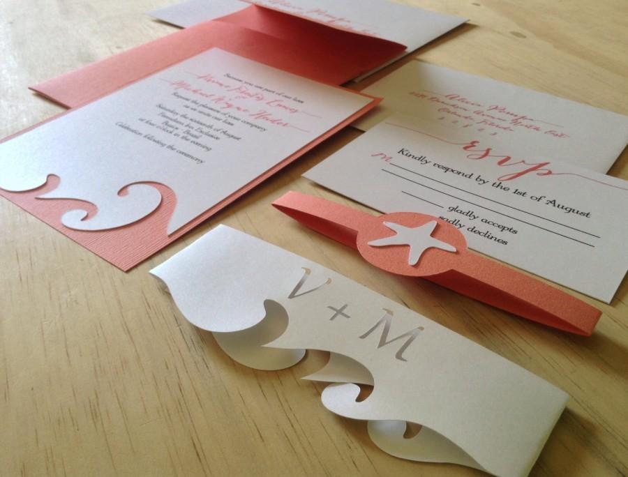 زفاف - Beach Wedding Invitation - Destination Wedding Invitation  - SAMPLE -