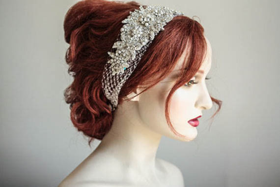 Свадьба - Wedding Veil Hair Piece - Veil Headpiece (Made to Order)