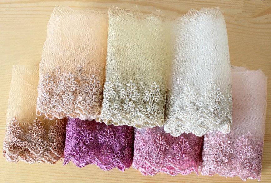 Vintage Floral Lace Trim, Wedding Veil Lace Trim, Sewing Trim, 4.1 ...