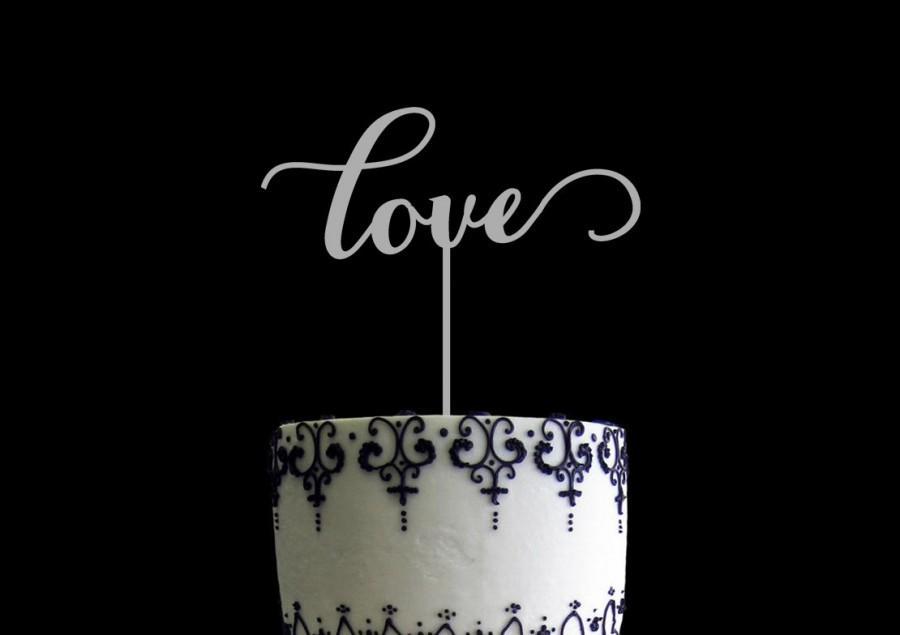Mariage - Love Wedding Cake Topper