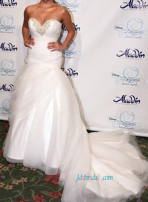 Mariage - Fairytale disney princess mermaid tulle wedding dress