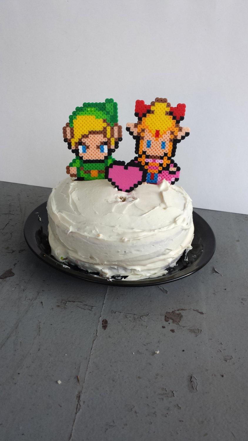 Mariage - Cake Toppers - Link and Zelda Wedding Cake Topper Set