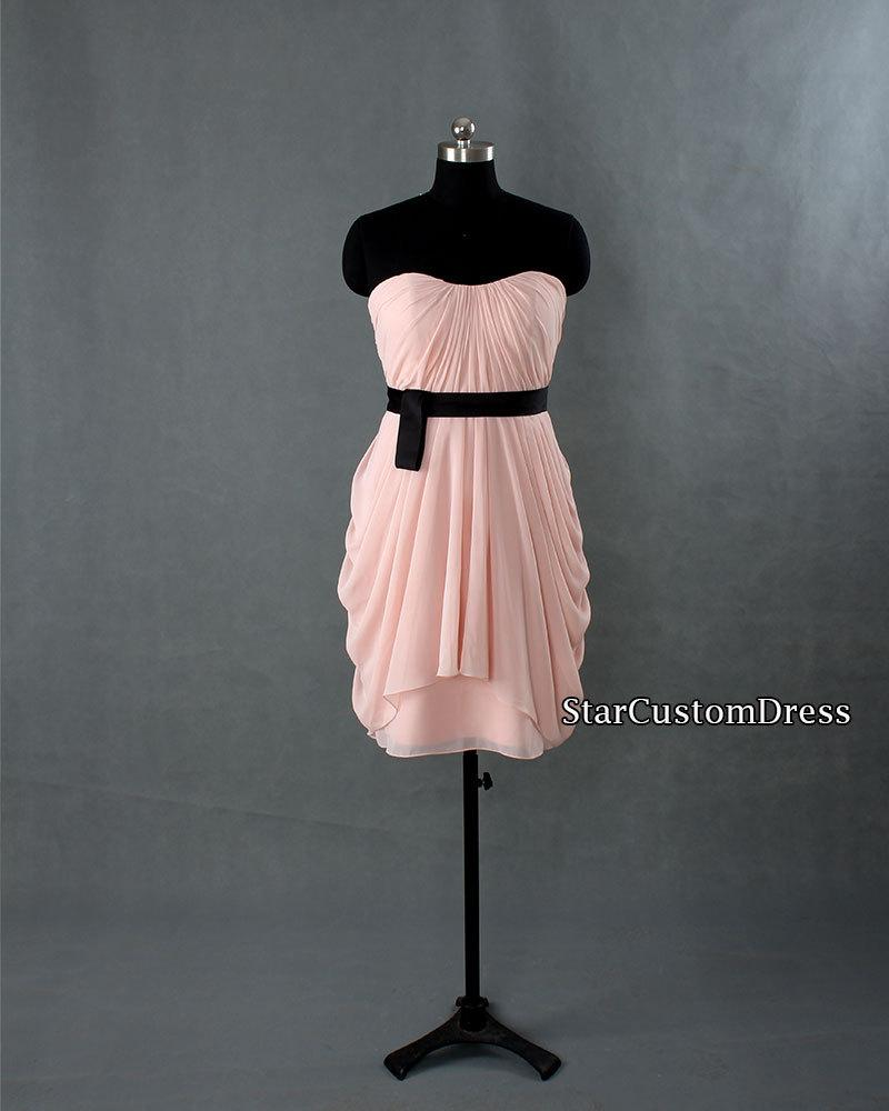 Wedding - Short Bridesmaid Dress Blush Bridesmaid dress Sweetheart chiffon dress homecoming dress