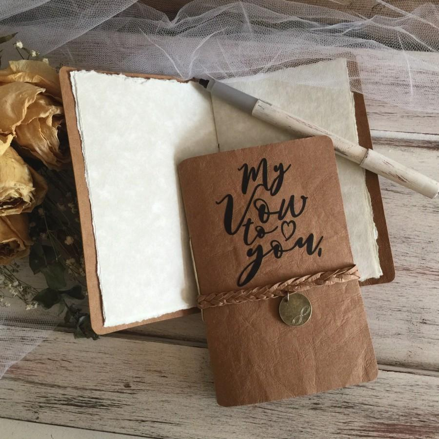 Handcrafted Wedding Vow Books Bride And Groom Infinity Charm And