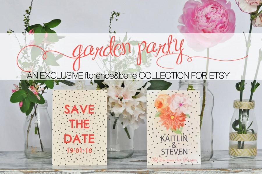 """garden party collection 2015 """"kaitlin"""" ; wedding stationery design"""