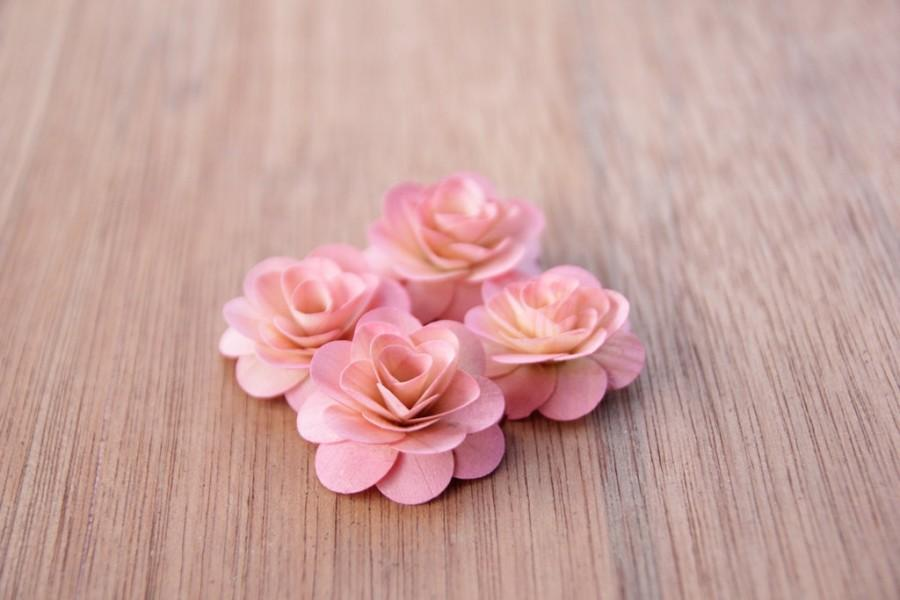 Hochzeit - 150  Pcs Blush Pink Birch Wood Roses for Weddings, Home Decorations, Scrapbooking and Floral Arrangements