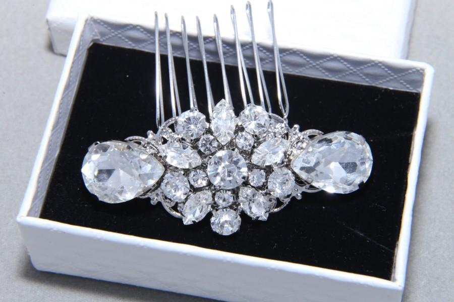 Wedding - Rhinestone Comb, Bridal Hair Comb, Snowflake Comb, Vintage Style Comb, Crystal Comb, Wedding Hair Comb, Bridal Hair Comb
