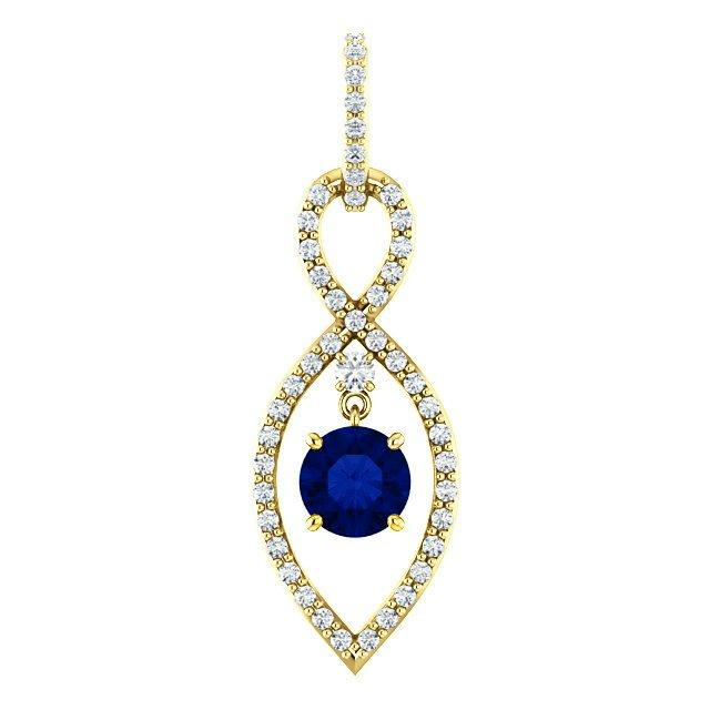 Mariage - Sapphire & Diamond Infinity Loop Pendant Necklace 14k, Cyber Monday 2016 Black Friday Jewelry Sales Amazon, Ebay Walmart, Designs