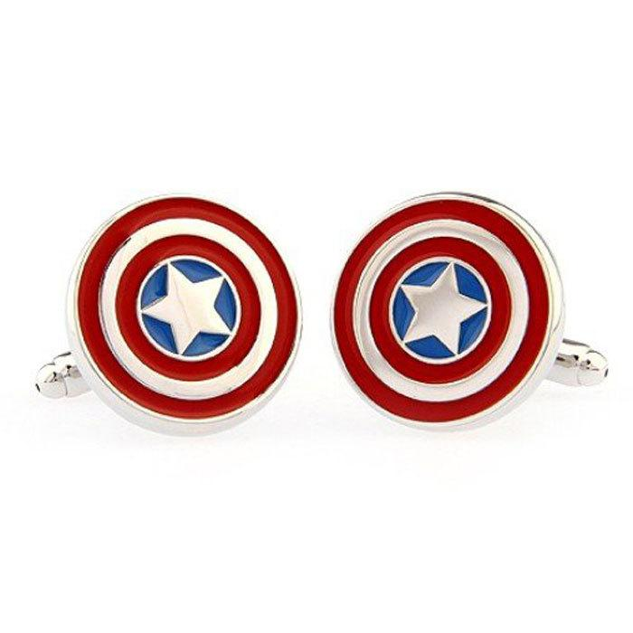 Свадьба - Captain America Superhero Cufflinks