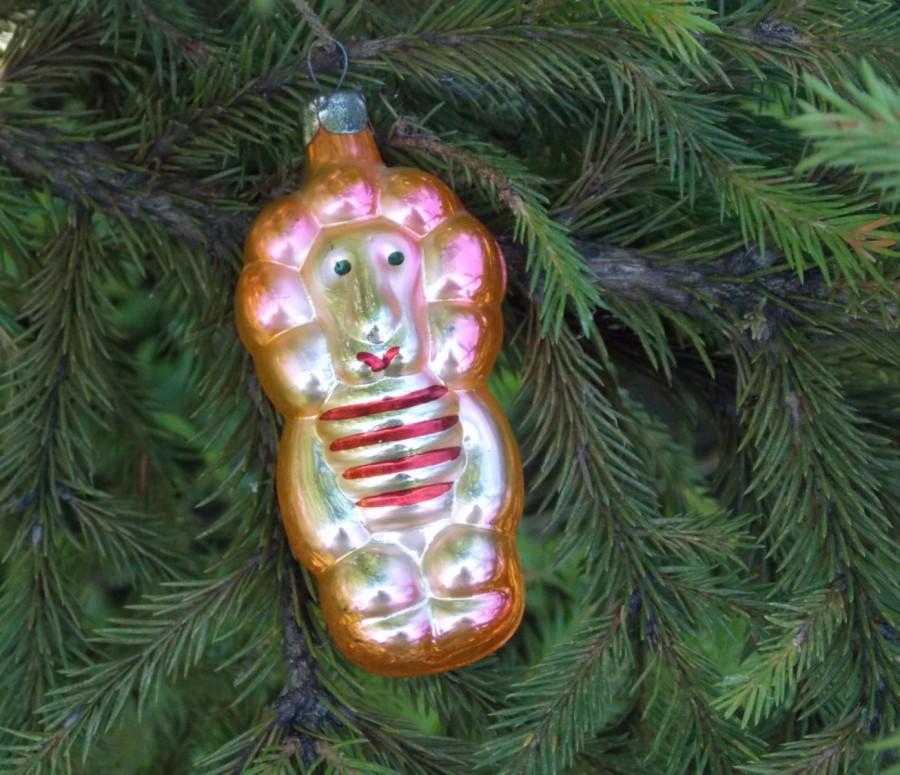 King Animal Tree Toy Lion Christmas Vintage Ornament Handmade