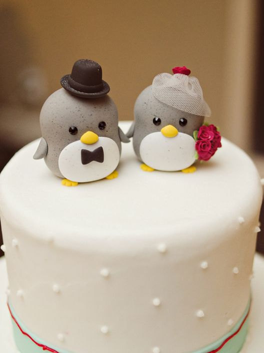 Свадьба - penguin cake topper---Special Edition (K212)