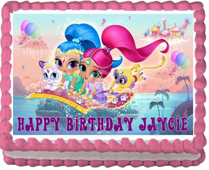 Mariage - Shimmer and Shine Cake Topper Decoration