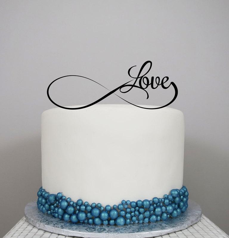 Свадьба - Wedding Cake Topper, Personalized Cake Topper, Love cake topper, Infinity, Cake Topper, Acrylic Cake Topper, Custom wedding cake topper.