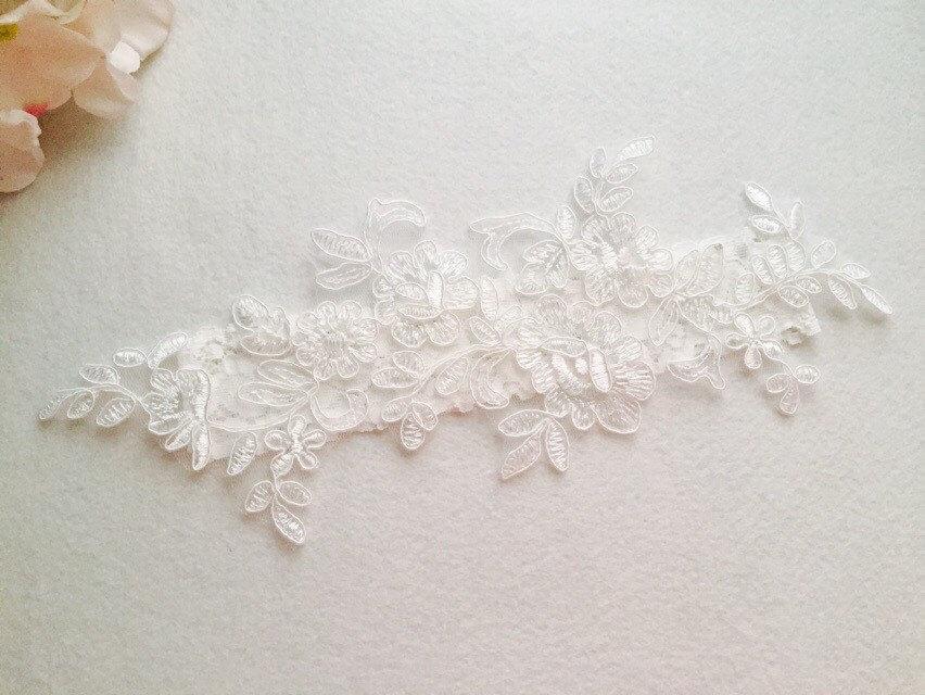 Свадьба - Wedding Garter , bridal garter, wedding lace garter,Ivory Lace Garter, Toss Garter