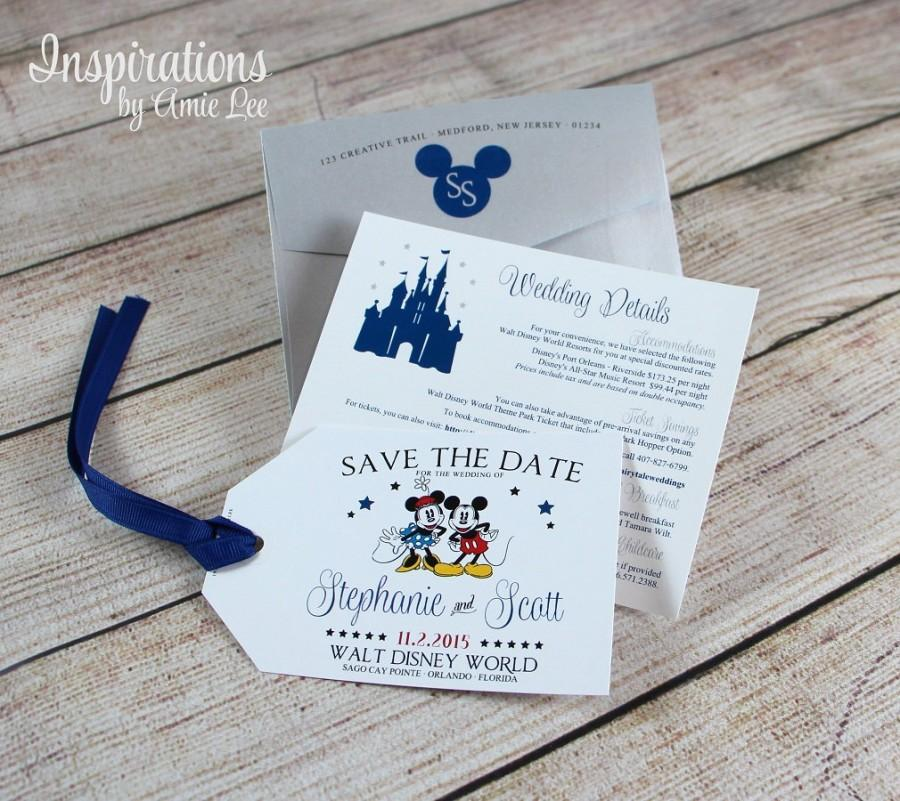 Disney Save The Date Luggage Tag Disney Tags Disney Invitations