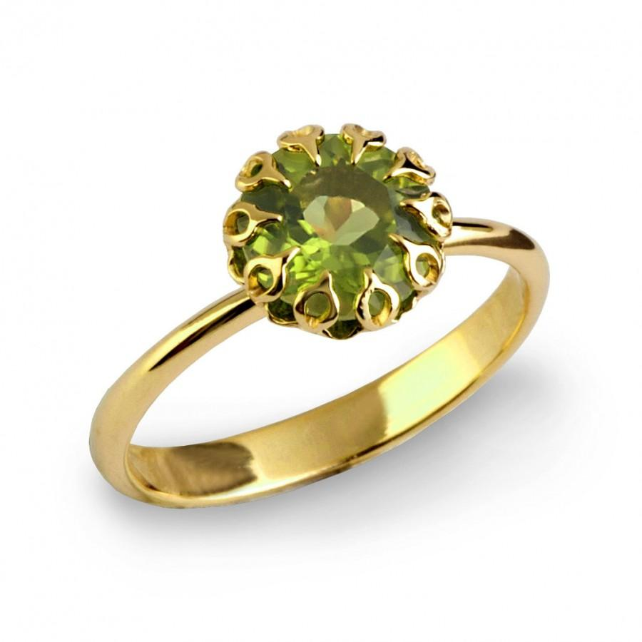 ring green rings at and white brand jewelry roberto id cocktail style j peridot coin engagement diamond material