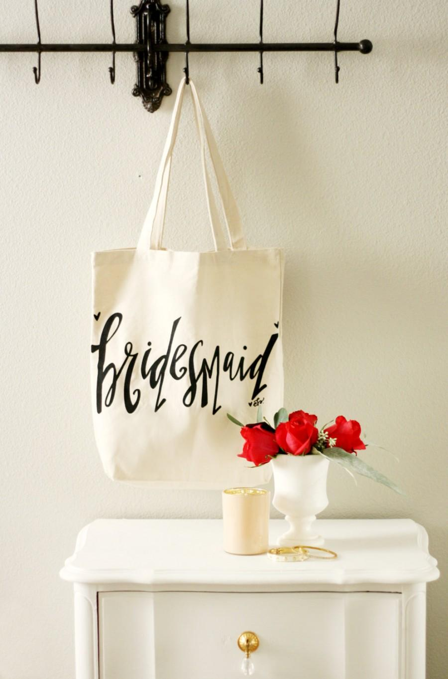 Свадьба - Bridesmaid Tote Bags - Bridesmaid Gift, Maid of Honor Gift, Favor Bags, Gift Bags, Bridal Party Bags Bride Bag Wedding Tote Bag