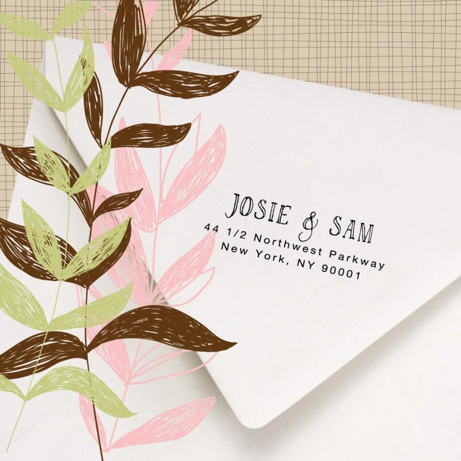 زفاف - Return Address Stamp - Hand printed font - Perfect for stamping invitations, letters and packages - Josie and Sam Design