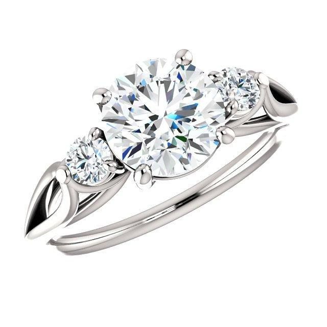 Cyber Monday Black Friday 2016 Deals Jewelry 150 Carat Forever One Moissanite Diamond Three Stone Ring
