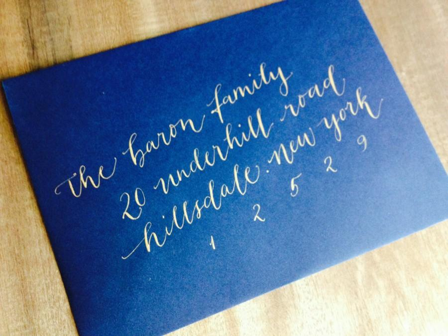 Wedding envelope calligraphy addressing by professional