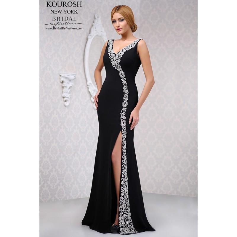 Mariage - Kourosh 4005 - Burgundy Evening Dresses