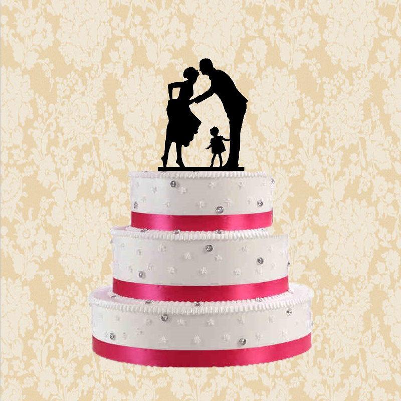 Свадьба - Silhouette wedding cake topper-bride and groom cake topper-cake topper wedding with girl-funny cake topper-modern silhouetter cake topper
