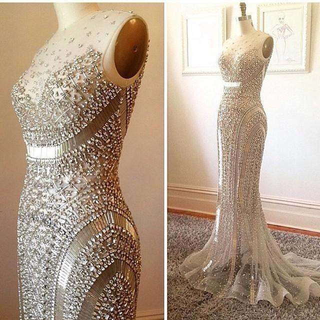 Dress bead crystal mermaid wedding dress 2585716 weddbook for Wedding dress beading patterns