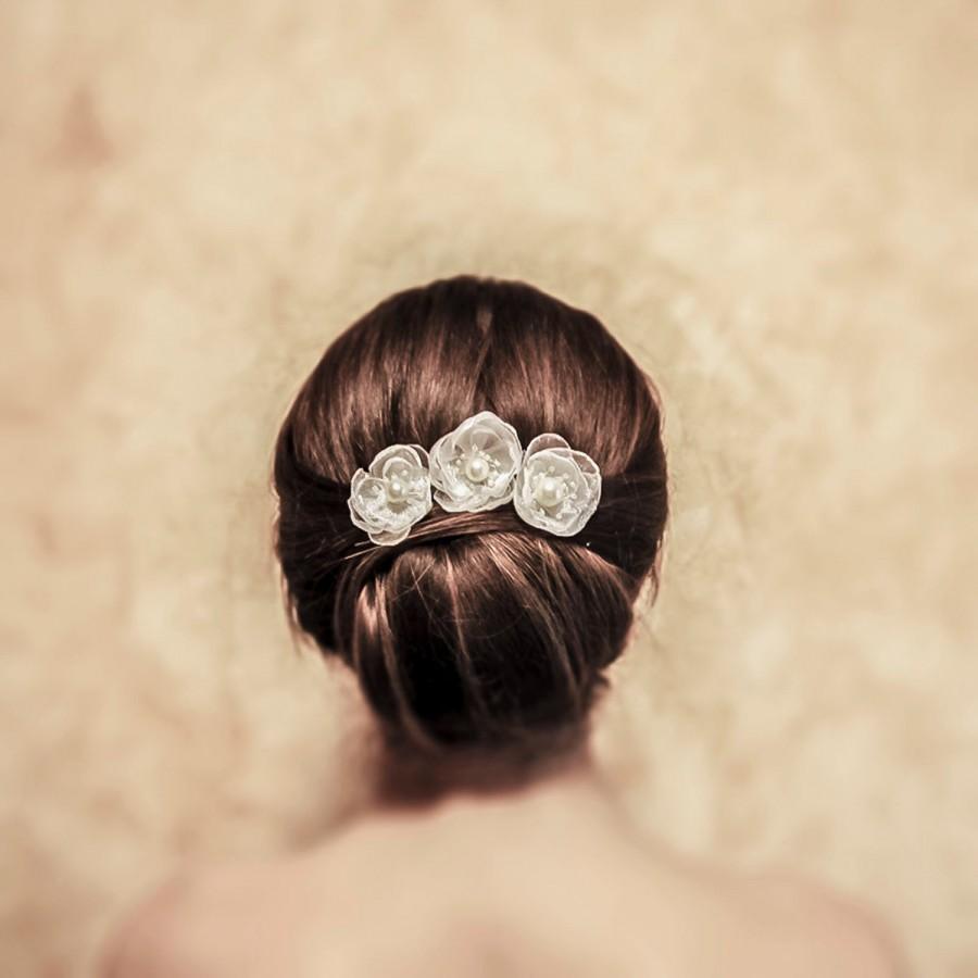 Mariage - Bridal Hair Pins - Anne - Set Of 3 Bridal Hair Pins Flower Pins Wedding Hair Jewelry Wedding Accessory Bridal Headpiece wedding hair jewelry