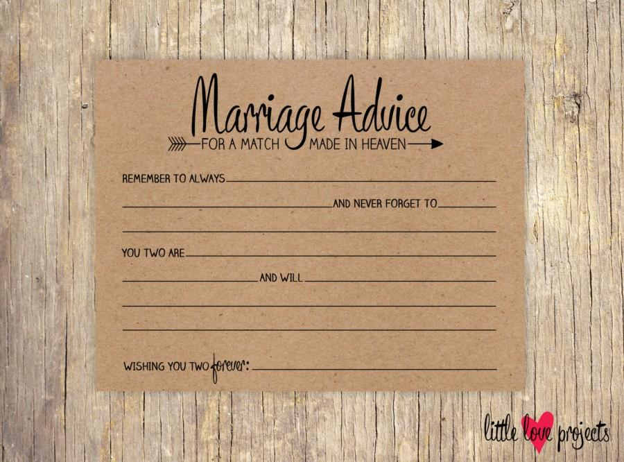 Wedding Advice Cards For The Bride And Groom Newlyweds