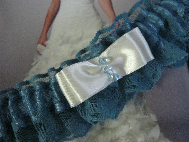 Mariage - Blue Lace Garter