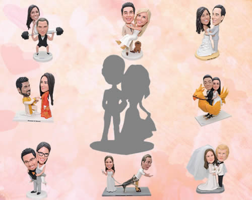 Свадьба - Custom wedding cake toppers based on your photos and ideas