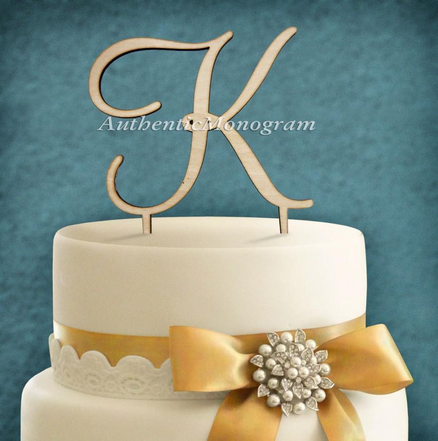 Свадьба - 6 inch Wooden CAKE TOPPER Single Letter Custom Monogram  Wedding Decor, Initial Monogram, Birthday, Celebration, Anniversary 4103
