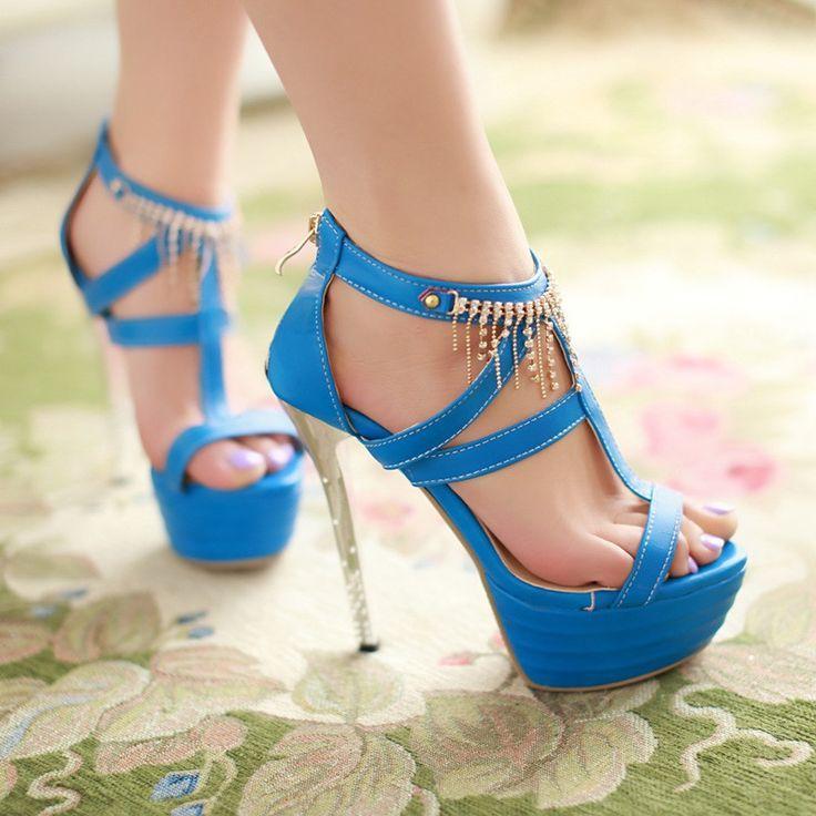 Hochzeit - Rhinestone-High-Heels-Sandals-Women-Pumps-Platform-Shoes-for-Wedding 3816