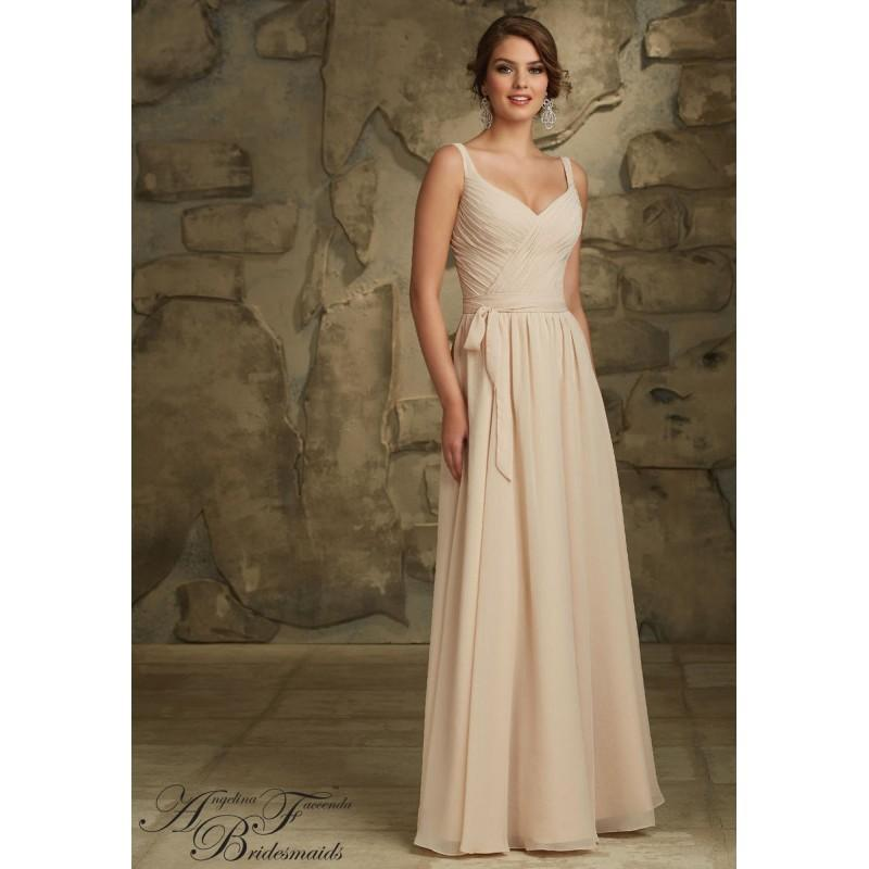 Wedding - Angelina Faccenda 20461 V Back Bridesmaid Gown - Brand Prom Dresses