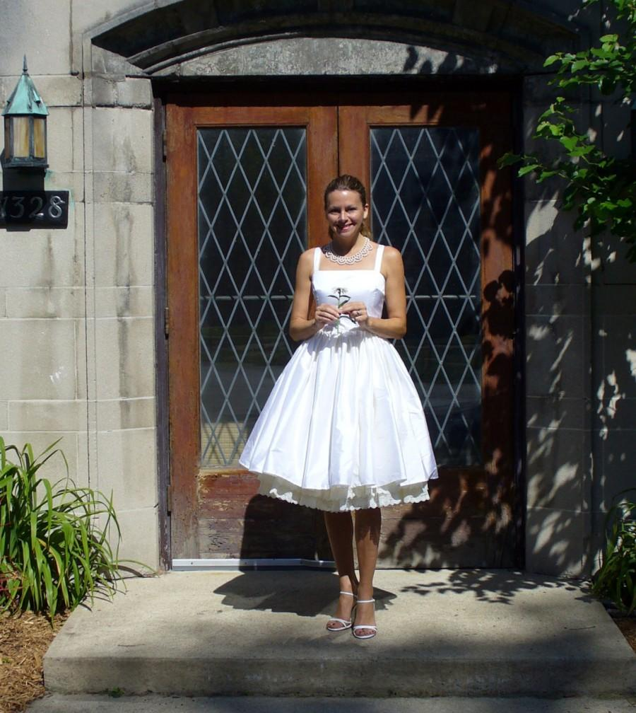 Wedding - Miss Katherine Grey's Wedding Dress ~ in Dupioni Silk with pockets and an extra-full gathered skirt ~ free petticoat