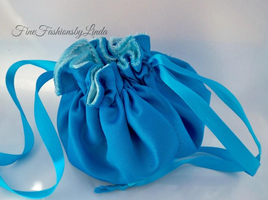 Satin Jewelry Bag, Flower Girl Purse, Bridesmaid Bag, Small Travel ...