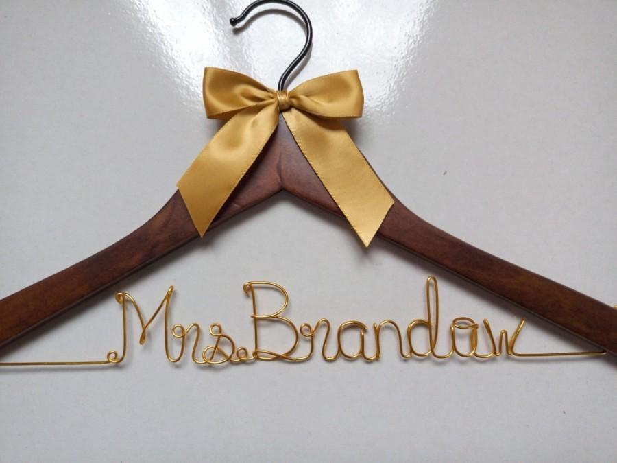 Wedding - Sale,Personalized Wedding Hanger,Bride unique hanger,Bridesmaid hanger,Wire Name hangers,Bridesmaid hangers,Wire wrapped hanger,Bride gifts