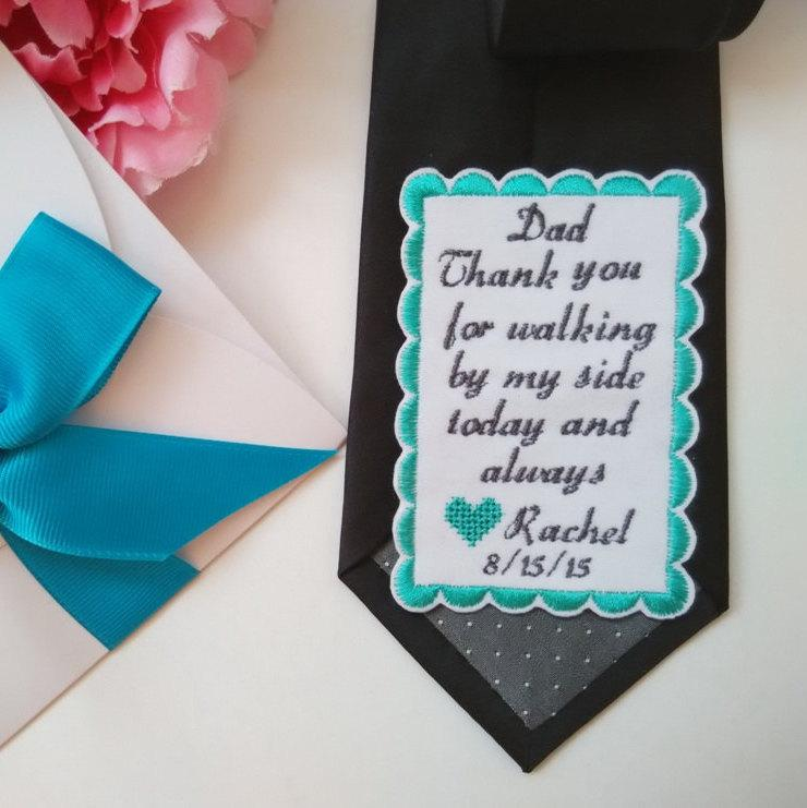 personalized wedding tie patch for daddy wedding gift for dad