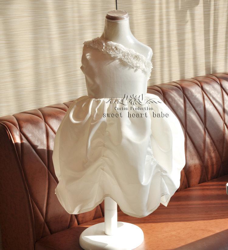 Wedding - IVORY  flower girl Dress, Junior Bridesmaid dresses,Christening dress , Baby flower  Dress - Flower girl Dress-birthday party dress-SW