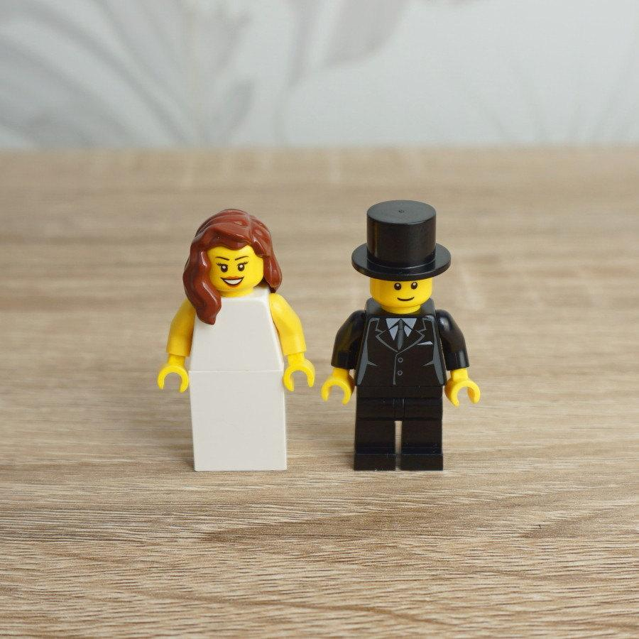 Lego Bride And Groom, Lego Cake Topper, Lego Cake Toppers