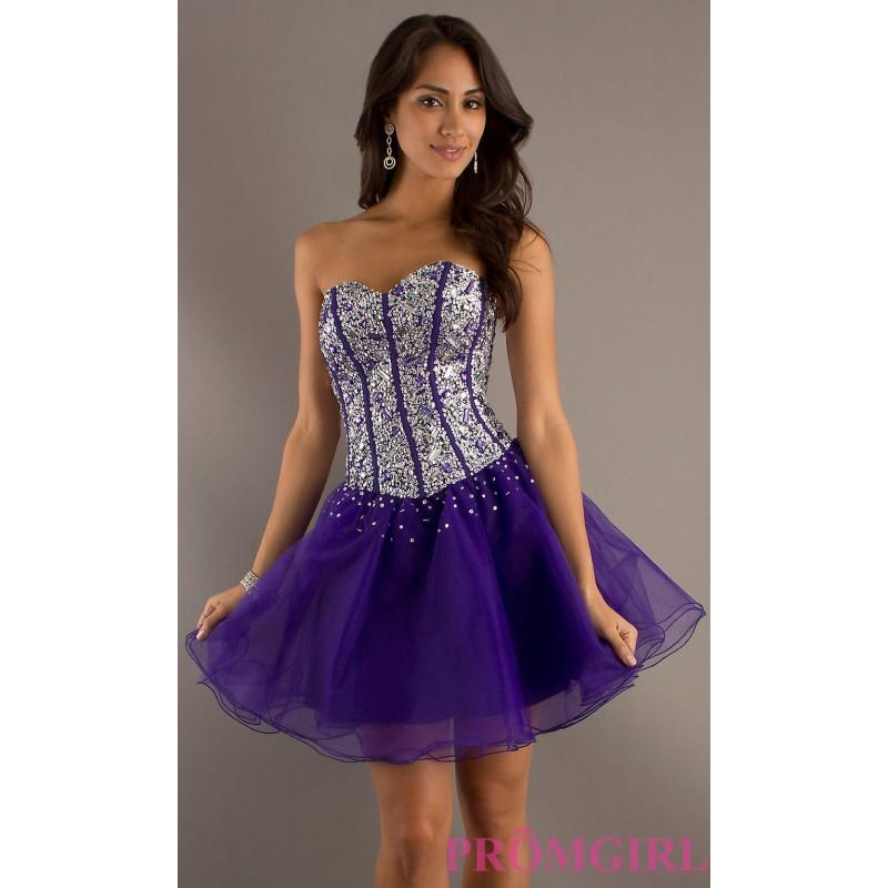 50d99b7aecce ... Short Corset Prom Dresses: Short Sweetheart Corset Party Dress
