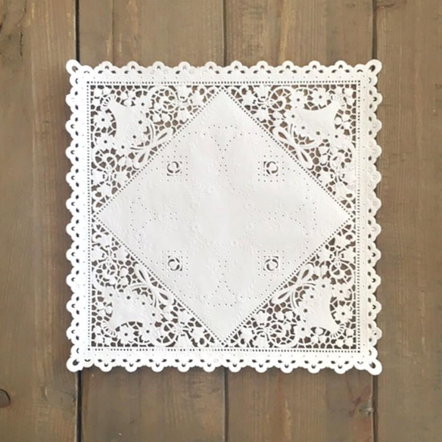 WHITE SQUARE 10 INCH Paper Lace Doilies - You Choose The Quantity ...