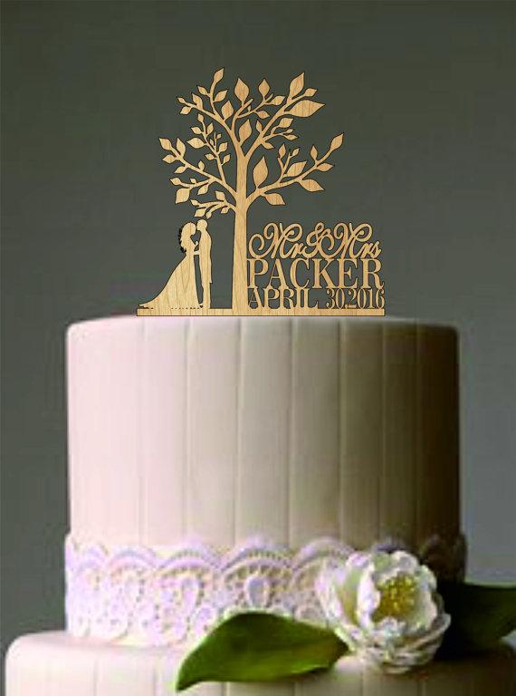 Свадьба - Rustic Wedding Cake Topper,Personalized Wedding Cake Topper,Unique wedding cake topper,monogram wedding cake topper,dog cake topper