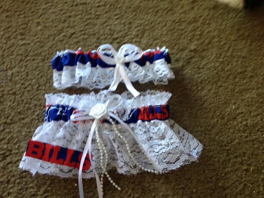 Wedding - Buffalo Bills Football Wedding Bridal Garters Set Regular/Plus Size