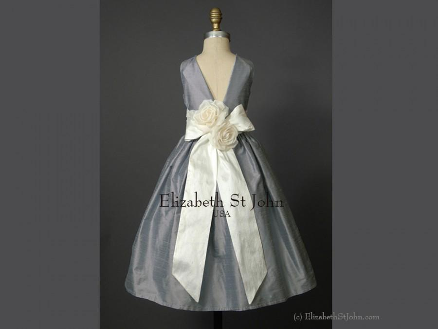 Tina Silk Dupioni Shantung Flower Dress Sizes 6 Months To 8 In Your Choice Of Over 40 Colors